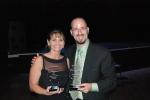 ISD Superintendent Marybeth Lauderdale and Jason Lomanto
