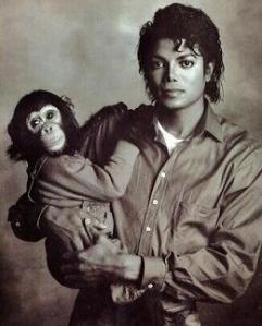 Bubbles & Michael Jackson in 1986
